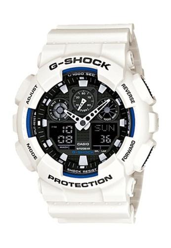 G-shock black and white and blue CASIO G-SHOCK GA-100B-7A C19A9AC7D7C8F0GS_1