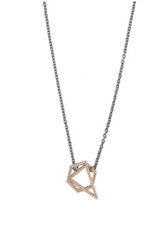 Triangle and Circle Loop Necklace