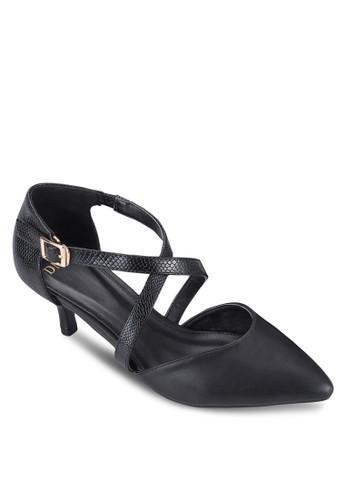 交叉踝帶尖頭高跟zalora taiwan 時尚購物網鞋, 女鞋, 鞋