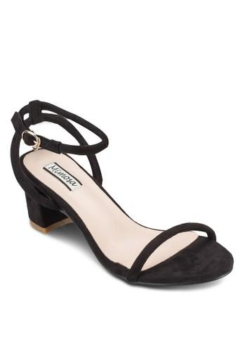 細帶一esprit台灣字帶繞踝粗跟涼鞋, 女鞋, 中跟