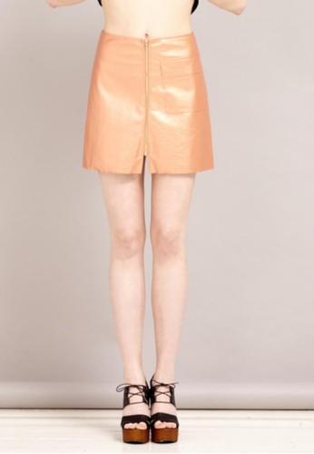 皮質短裙, esprit台灣服飾, 迷你裙