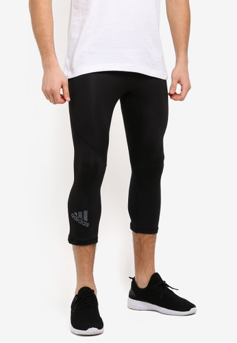 adidas black adidas alphaskin sports 3/4 tights AD372AA0SUJNMY_1