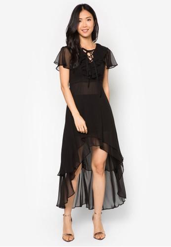 Zeaesprit holdings limited 流水荷葉墜飾魚尾長洋裝, 服飾, 洋裝