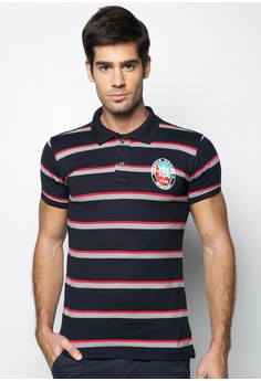 Polo with Logo Print