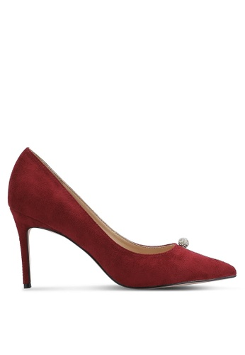 ZALORA red Crystal Ball Court Heels F1FE1ZZ8FFFF87GS_1
