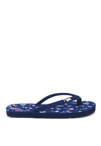 Ripples blue Alyssa Floral Flip Flops FBBB3SHA4AB339GS_1
