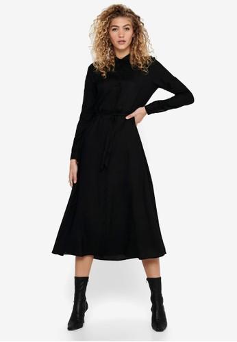 ONLY black Ester Shirt Dress 5D95DAA69F9F06GS_1