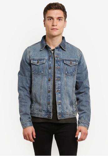 Burton Menswear London blue Blue Denim Jacket BU964AA0RWLVMY_1