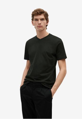 Mango Man green 100% Sustainable Cotton T-Shirt 854F0AA094ADF2GS_1