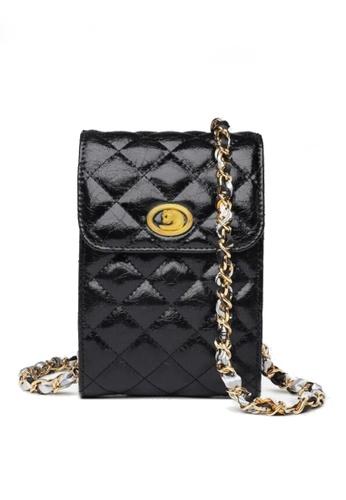 Twenty Eight Shoes black VANSA Fashion Lingge Chain Crossbody Bag VBW-Ps503 D52C3AC814F261GS_1