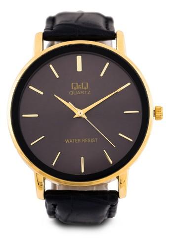 Q850Jesprit 會員102Y 三指針皮革圓錶, 錶類, 其它錶帶