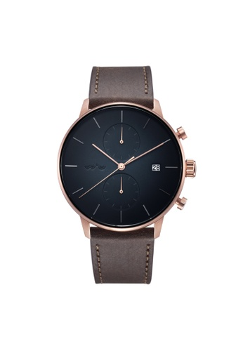Aries Gold brown Aries Gold Venturer G 1033 RG-OBK Rose Gold and Brown Leather Watch 344C7AC9268BB9GS_1