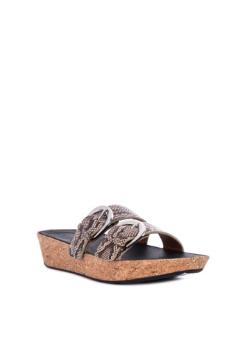 a55821ebe50b Shop Fitflop Duo-buckle Slide Sandals- Snake-Print Leather Online on ZALORA  Philippines