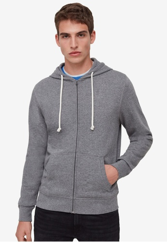 OVS grey Full-Zip Hoodie 05E93AAFF4936EGS_1