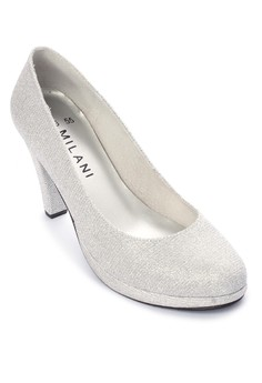 Zandria Formal Glitz Closed Round Toe High Heel