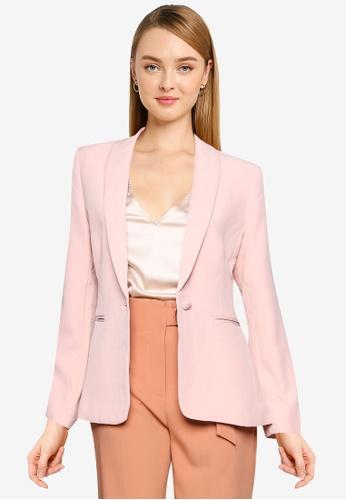 FORCAST pink Julianne Single Breasted Blazer 0064BAADB8D5D9GS_1