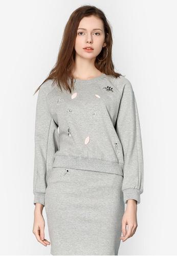 Hopeshow grey Long Sleeve Woolen Sweater A074BAA96ED7A8GS_1