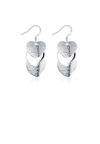 Glamorousky silver Simple Heart Earrings 1AB04AC0DD67E5GS_1