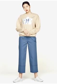 【ZALORA】 花卉圖案長袖衫