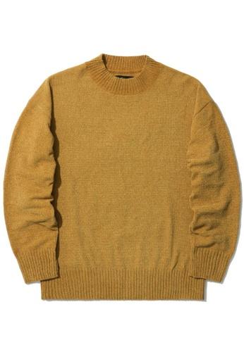 tout à coup yellow Velvet knit sweater 4D462AA5C63F4AGS_1