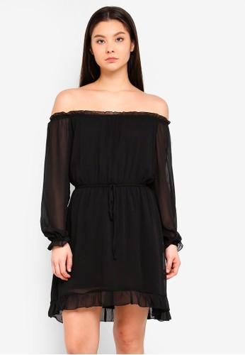Cotton On black Woven Lorne Off The Shoulder Dress 603EFAA2FEF195GS_1
