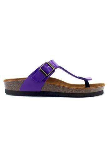 SoleSimple 紫色 Rome - 光面紫色 百搭/搭帶 軟木涼鞋 DCFB3SHC6E859AGS_1