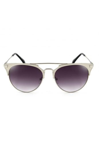 Maldives Eyewear black and silver Eleanor Vintage Fashion Metal Browline Sunglasses 8011-14-Y MA573GL17WOOPH_1