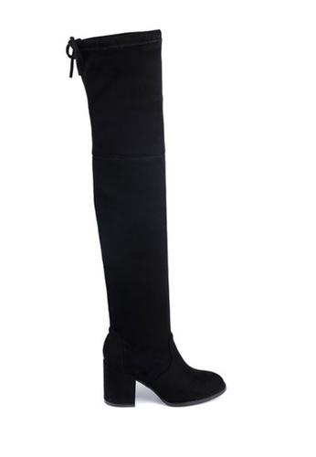 Twenty Eight Shoes black Skinny Over Knee Heel Long Boots 661-2 TW446SH46BSRHK_1