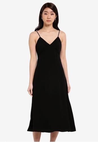 ZALORA black Bustier Cami Fit & Flare Dress E86D6AADCE4722GS_1