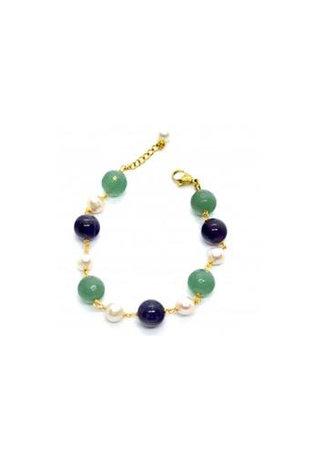 Shinju Pearls multi SHINJU PEARLS-Amethyst Aventurine and Pearl Bracelet A76B1AC8E8EDC6GS_1