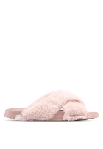 Rubi pink Max Xover Fluffy Sandals 66ADDSH7DF8D9FGS_1