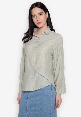Chloe Edit green Polo With Gathered Sleeves CH672AA0JUH5PH_1