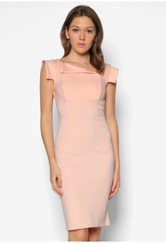 Asymmetrical Collar Dress