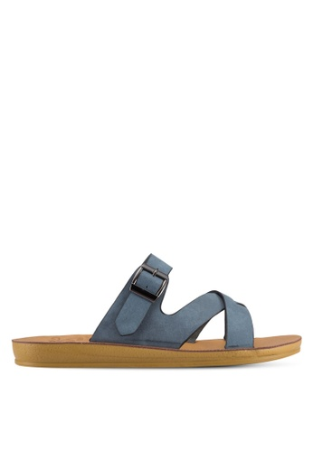 Noveni blue Strappy Sandals NO978SH62VUBMY_1