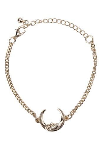 zalora 包包評價Lara 新月造型手鍊, 飾品配件, 飾品配件