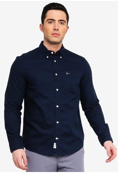 5caa985bcc2 Jack Wills navy Wadsworth Plain Oxford Shirt 3FD44AA57B1245GS 1