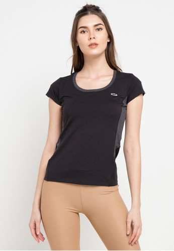 OPELON black Short Sleeve Top 69876AA289362BGS_1