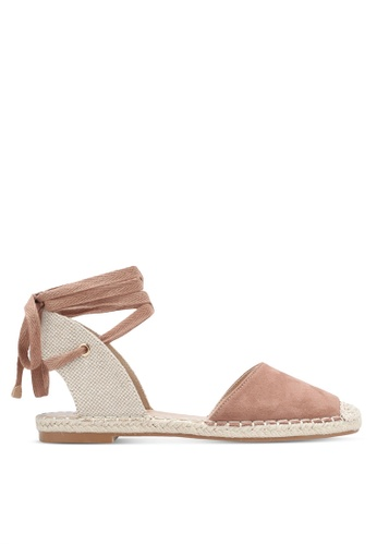 ZALORA brown Lace Up Espadrille E0AC9SHB74394FGS_1