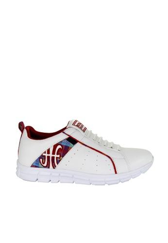Royal Elastics white and multi Zephyr Laceless Trainers RO796SH2UYL8HK_1
