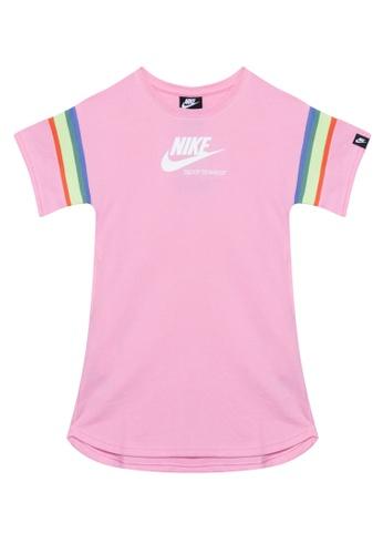Nike pink Girls' Nike Sportswear Heritage FT Short-Sleeve Dress 5B227KA8D85D15GS_1