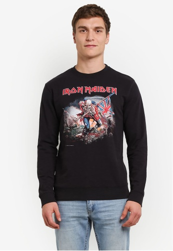 Only & Sons black Only & Sons Iron Maiden Sweatshirt ON662AA0S49LMY_1
