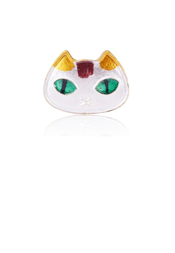 Glamorousky silver Simple and Cute White Cat Brooch 2767EAC2D5CABEGS_1