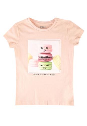 FOX Kids & Baby pink Kids-Girls Macaroon Graphic Print Tee 5FC90KAE25270DGS_1