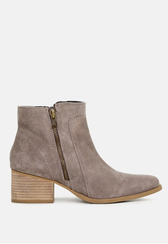 RAG & CO beige Ankle Boots with Zip Closure A5114SHD4DF66EGS_1