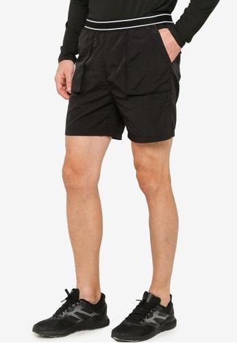 ZALORA ACTIVE black Pocket Detail Basketball Shorts B8500AAC13AB5EGS_1