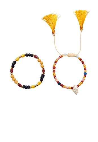 MANGO KIDS yellow 2 Pack Beads Bracelets 9D9D0KC6645B51GS_1