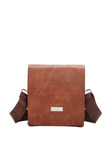 Swiss Polo brown Structured Sling Bag 91E41AC8B3E571GS_1