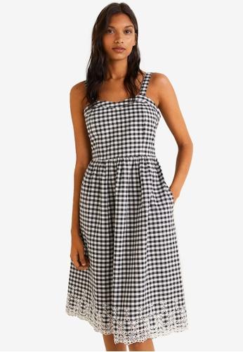 MANGO black Stripe Textured Dress 4B75AAAE161A12GS_1