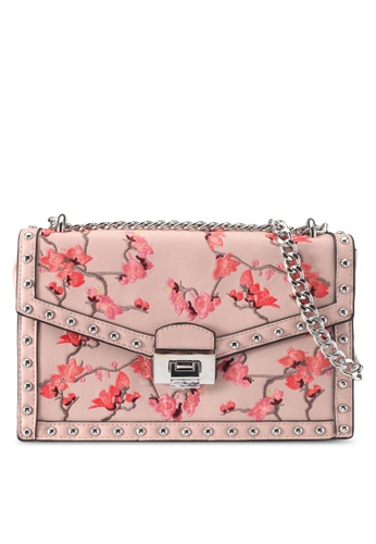 Mango pink Studded Embroidered Bag 7E25BAC273D439GS_1