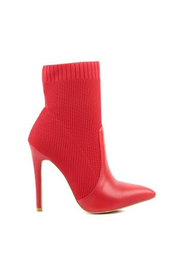 London Rag red Pointed Toe Stretch Boot 32871SH49B6B31GS_1